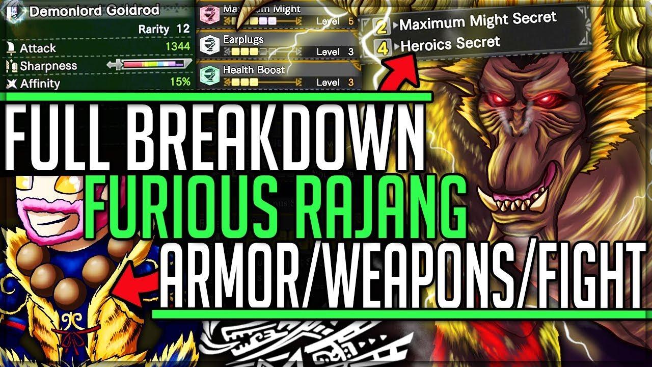 """Furious Rajang Is Too Easy Armor Weapon Breakdown New Set Bonus Monster Hunter World Iceborne ǚ""""youtube视频效果分析报告 Noxinfluencer"""