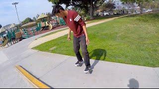 Chris Learns Freeline Skates!
