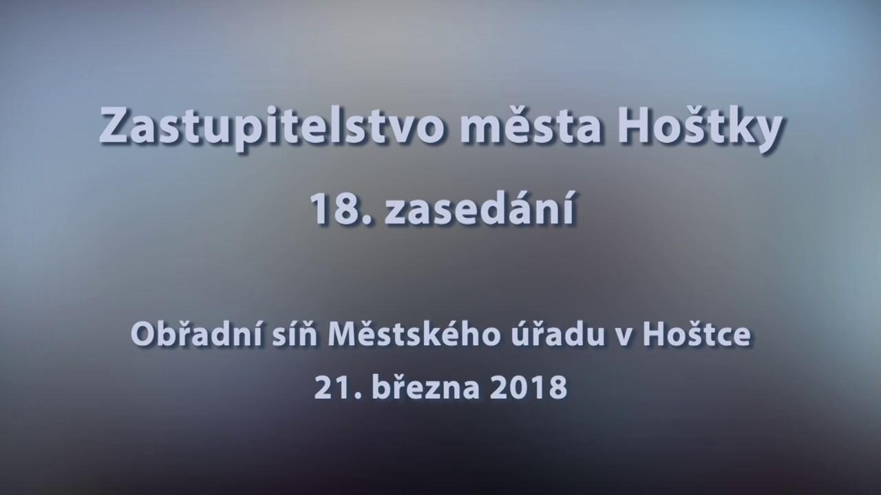 Zastupitelstvo města Hoštky, 18.  zasedání ze dne 21.3.2018