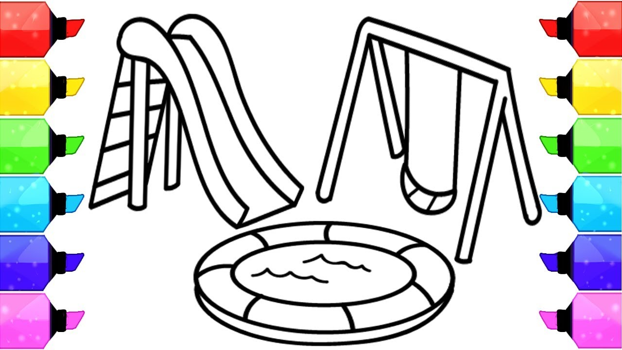 - Playground Coloring Pages How To Draw Playground And Learn