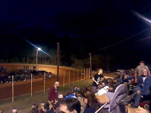 Aaron criswell's first win at winder Barrow speedway