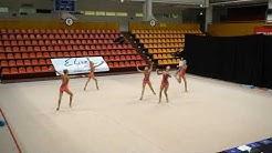 Rytmisen voimistelun naisten maajoukkue vanne/keilat ohjelma 2019