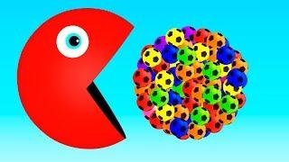 ПАКМАН - изучаем цвета, животные для детей, развивающие мультики для малышей