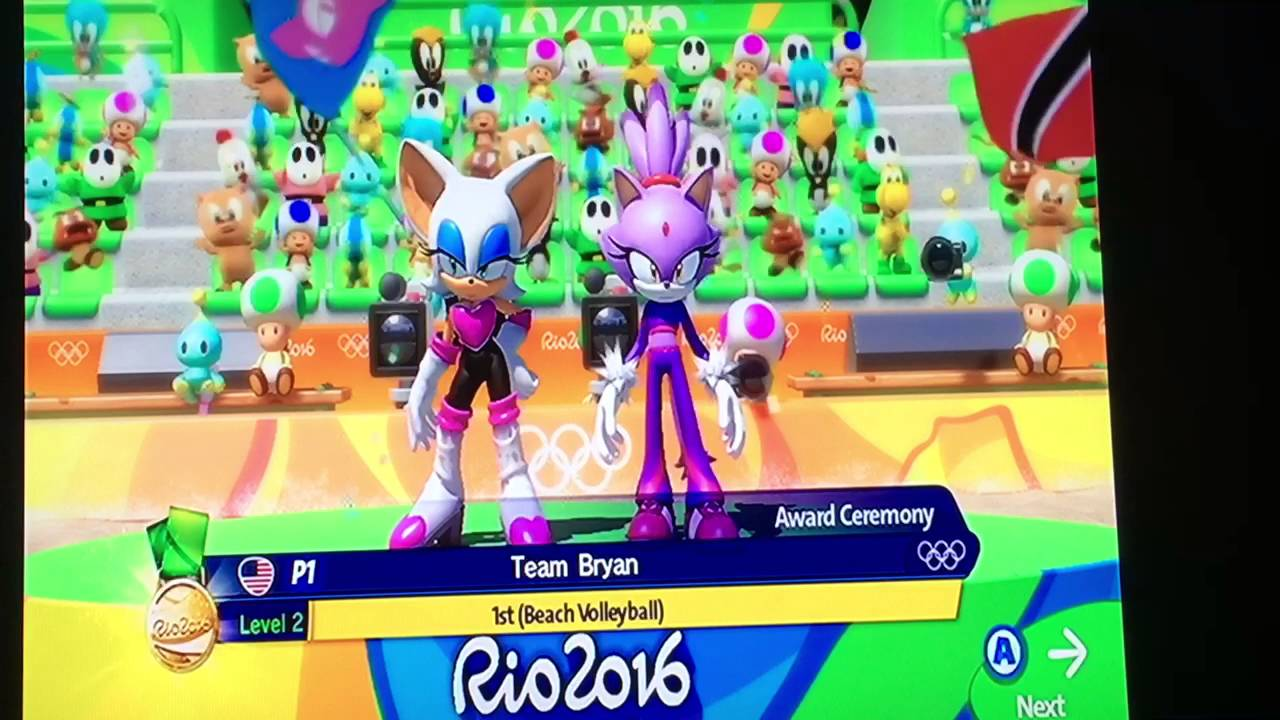 Mario and Sonic at the Rio 2016 Olympic Games- Rouge and Blaze's ...