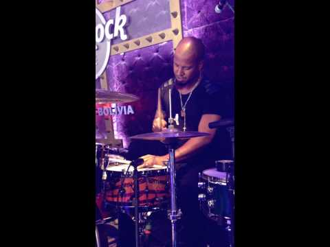 Rick Jordan, Joss Stone Drummer using a Sarai Custom Drums 14x6 Mahogany wood