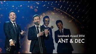 Ant & Dec receive the 2014 NTA Landmark Award
