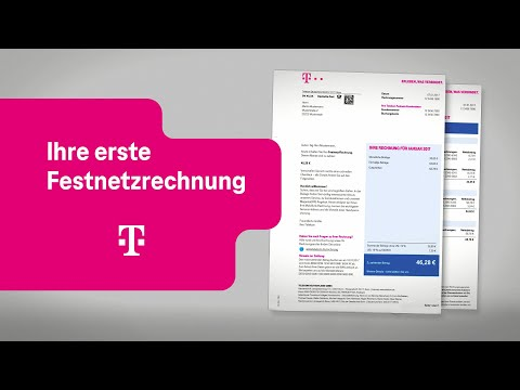 Social Media Post: Telekom: Ihre erste Festnetzrechnung