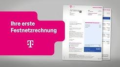 Telekom: Ihre erste Festnetzrechnung