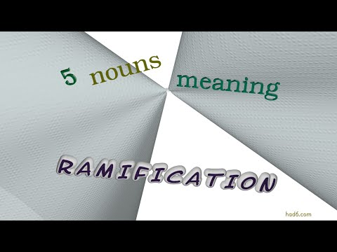 ramification - 5 nouns meaning ramification (sentence examples)