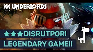 ★★★ DISRUPTOR!! LEGENDARY GAME! Dota Underlords LORD OF WHITE SPIRE!