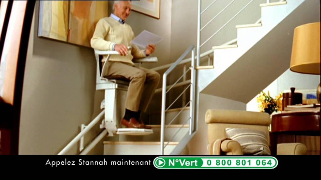 monte escaliers stannah pub tv homme 20 secondes youtube. Black Bedroom Furniture Sets. Home Design Ideas