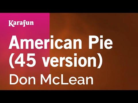 American Pie (45 Version) - Don McLean | Karaoke Version | KaraFun