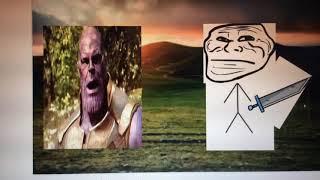 Ultimate boss battle (thanos vs mega troll face)