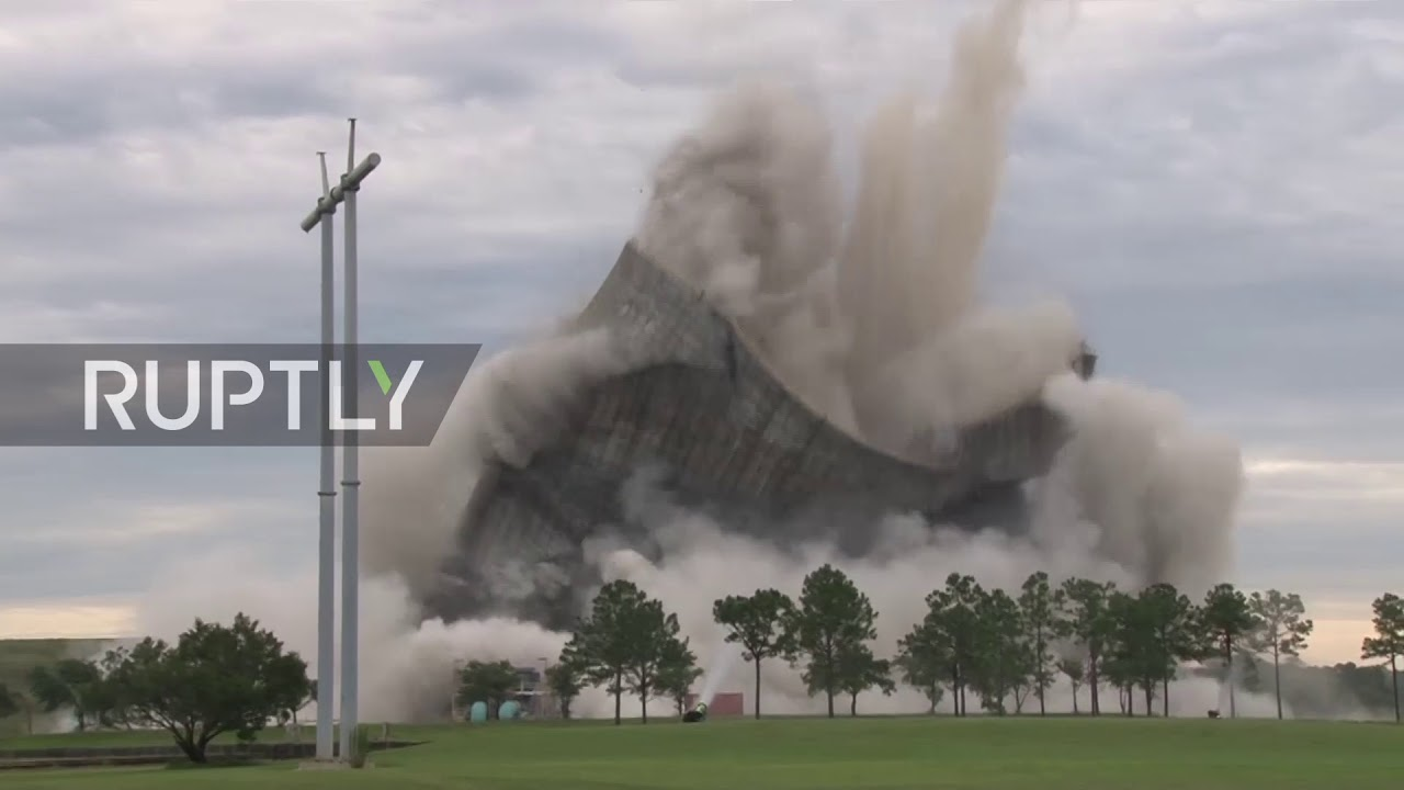 Northside cooling towers implode into cloud of dust