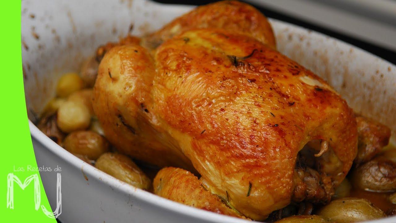 Pollo al horno con tomillo y romero la receta m s f cil - Pollo con almendras facil ...