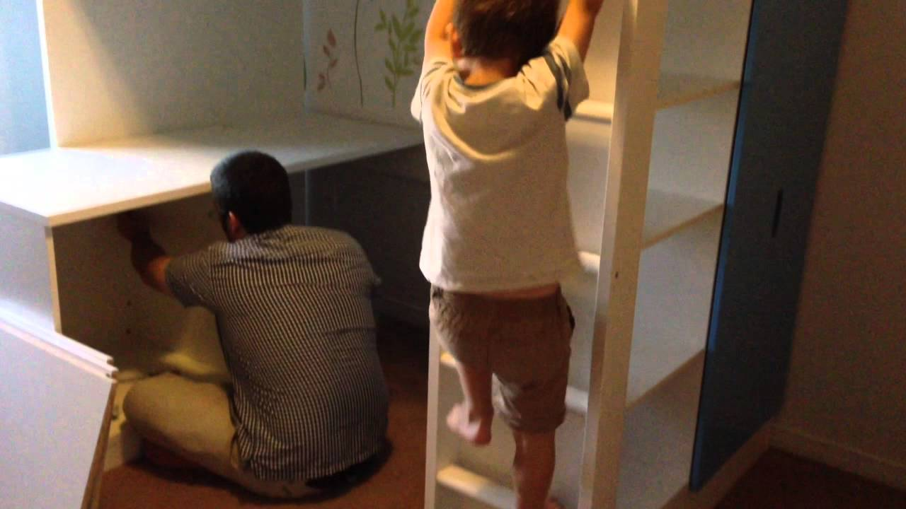 IKEA loft bed Stuva - YouTube
