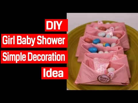 Diy Girl Baby Shower Simple Decorations Youtube