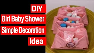 Diy Girl Baby Shower Simple Decorations