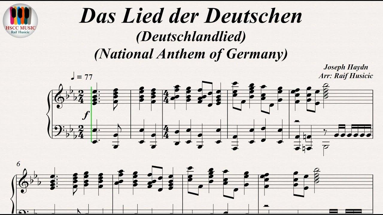 Das Lied der Deutschen (Deutschlandlied), National Anthem