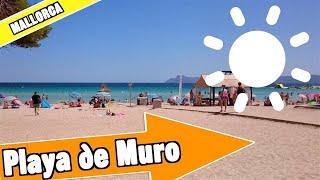 Playa de Muro Mallorca Spain:  Full beach and resort