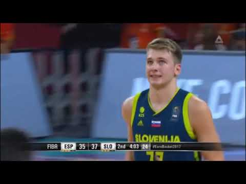 Luka Dončić Full Highlights vs Spain | 11 Pts 12 Rbs 8 Ast 0 To | Eurobasket 2017 1/2 Finals