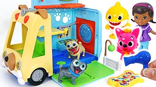Let's go to the animal hospital with Pororo and the baby shark! | PinkyPopTOY