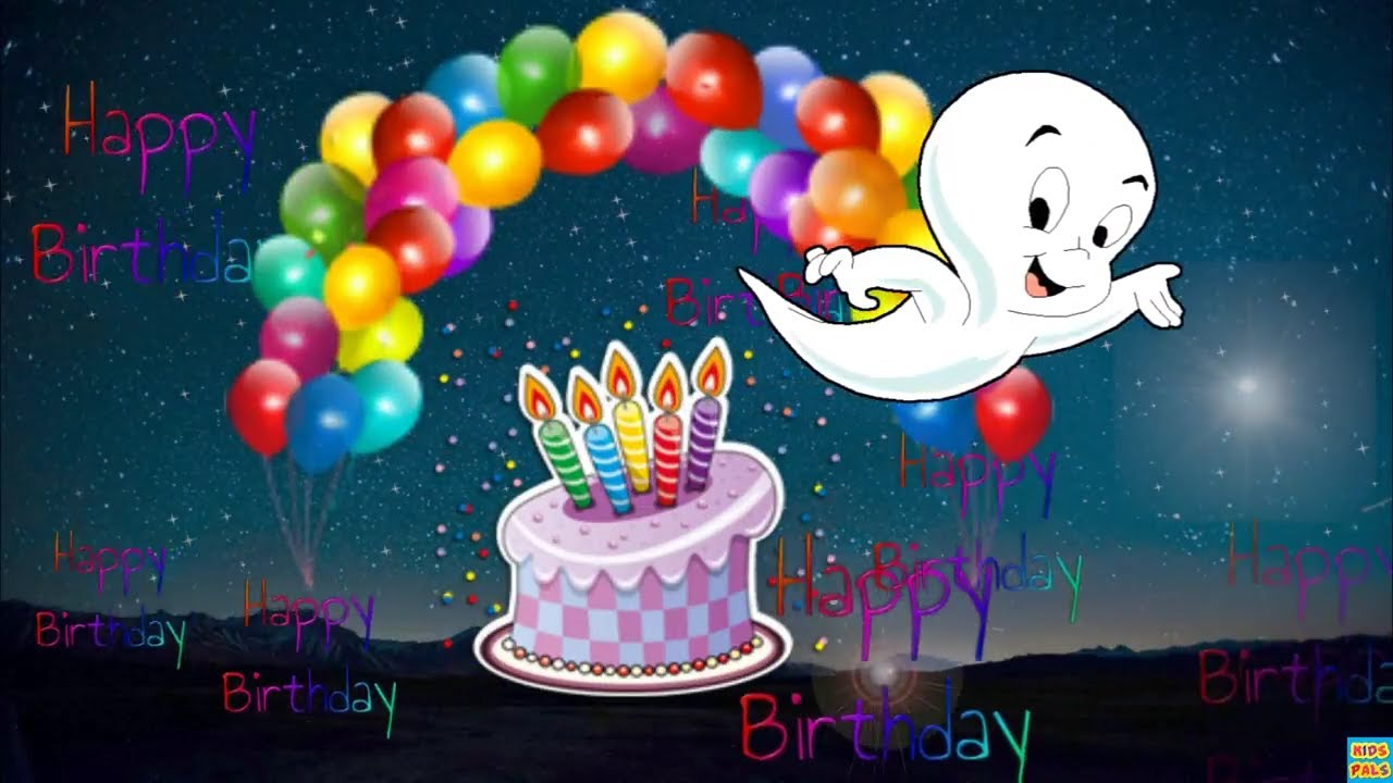 Funny Happy Birthday Song With Casper The Friendly Ghost