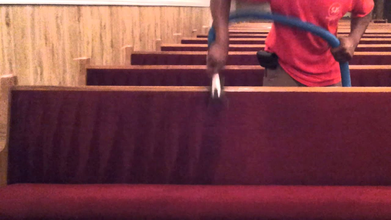 cleaning church pews by superior janitorial service
