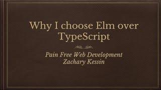 Elm vs Typescript