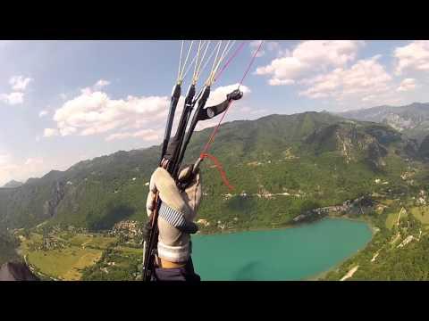 Paragliding Boracko jezero  Bosnia and Herzegovina.