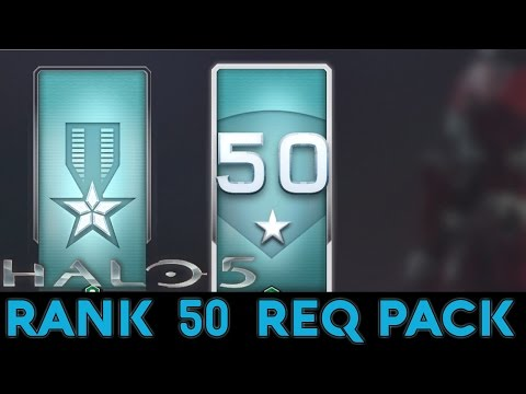 Halo 5: Guardians - Spartan Rank 50 REQ Pack Opening + 6 Gold Packs