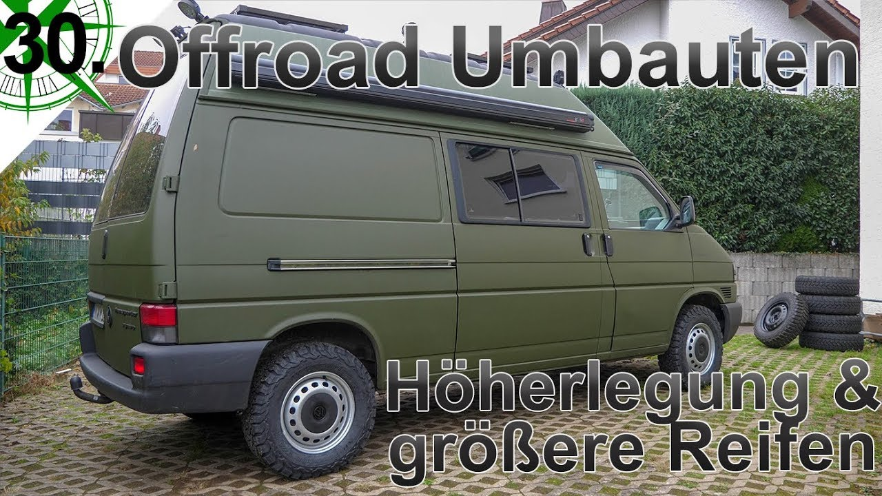 offroad umbauten h herlegung gr ere reifen seikel bf goodrich vw t4 syncro camper. Black Bedroom Furniture Sets. Home Design Ideas