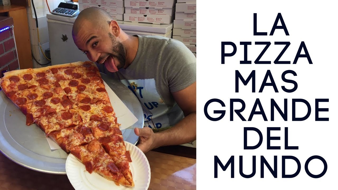 La Pizza Mas Grande Del Mundo Pizza Barn En New York Youtube