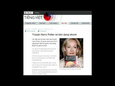 23-06-2011 - BBC Vietnamese - Truyện Harry Potter sẽ bán dạng ebook