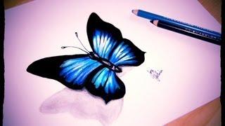 drawings butterfly simple draw pencils prismacolor sketch colorful markers butterflies pencil step marker ske mariposas lapiz con doodle dibujar