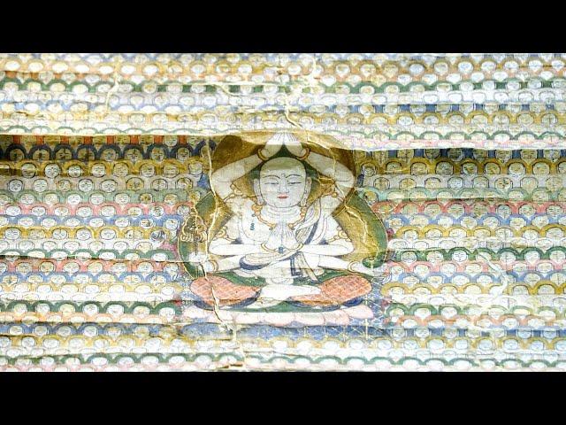 世界に一枚? 異色の曼荼羅 腕6本の地蔵と小地蔵1万