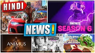🎮News!! FORTNITE *Season 6* Releasing TODAY | ANGRY BIRDS AR, ANIMUS LAUNCHED | NOOBTHEDUDE NEWS