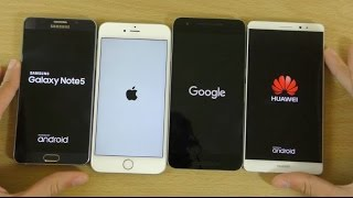 Benchmark Speed Test - Huawei Mate 8 VS Note 5 VS iPhone 6S+ VS Nexus 6P!