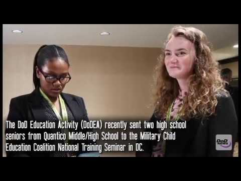 Military-Connected students interview Lt. Gen. Luckey