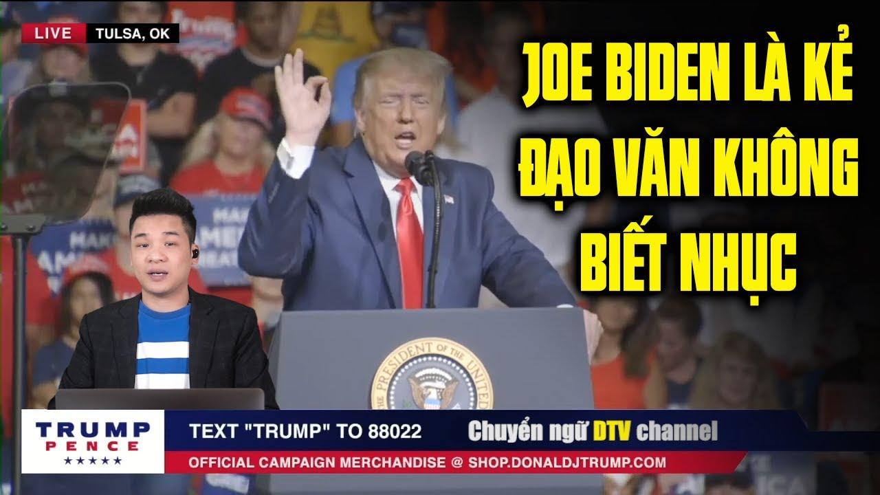 TT Trump gọi Joe Biden là kẻ không biết nhục khi đi đạo văn của chính trị gia Anh
