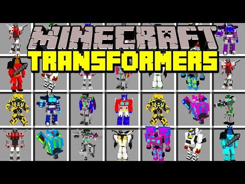 Minecraft TRANSFORMERS MOD!   TRANSFORM INTO TRANSFORMERS, FIGHT, FLY, & MORE!   Modded Mini-Game