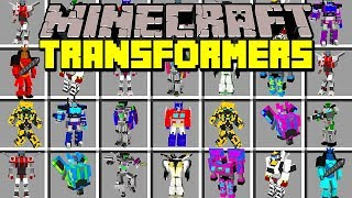 Minecraft TRANSFORMERS MOD! | TRANSFORM INTO TRANSFORMERS, FIGHT, FLY, & MORE! | Modded Mini-Game