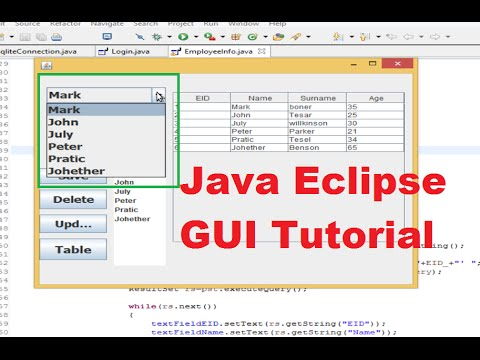 Java Eclipse GUI Tutorial 14 # How to link jcombobox with