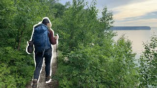 Hiking 21 Miles iฑ PICTURED ROCKS (Beach Camping!)