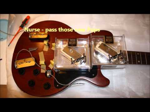 Gibson Les Paul DC P90s to Mini Humbuckers conversion / install ...