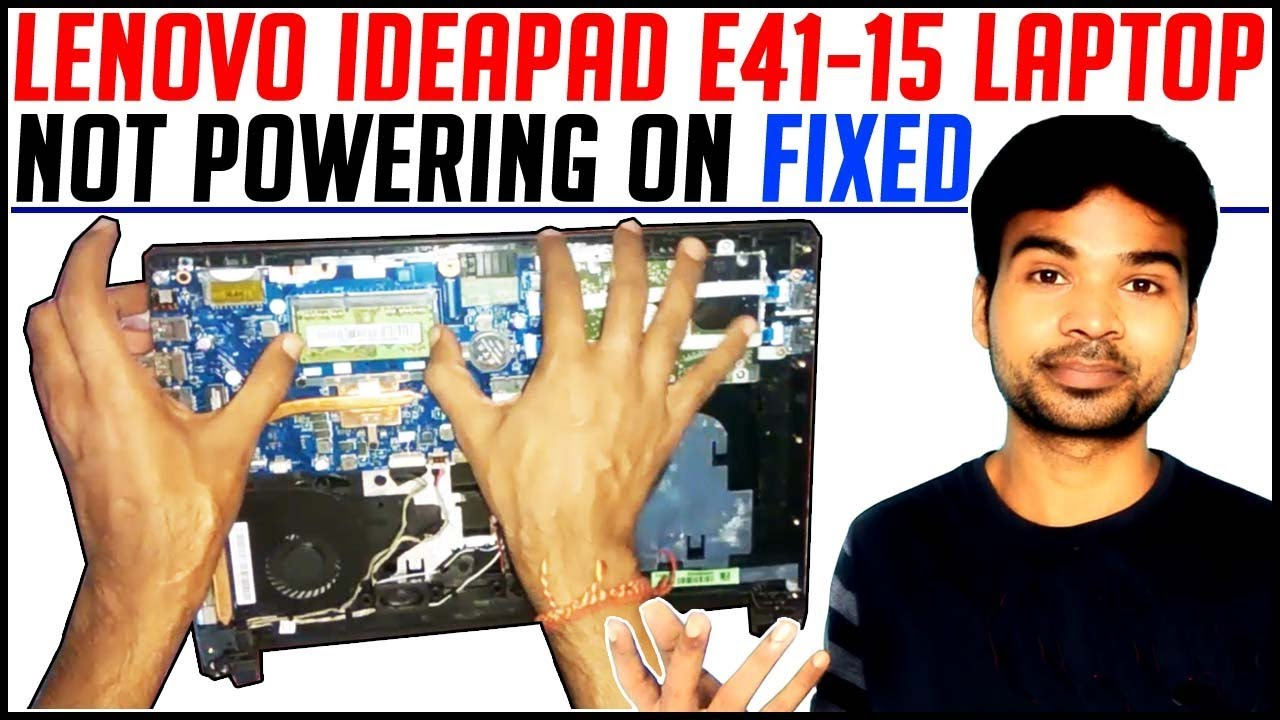LENOVO IDEAPAD E41-15 Laptop Not powering on Fixed | How to open Leonvo  E41-15 & remove battery by TECHNICAL TECH