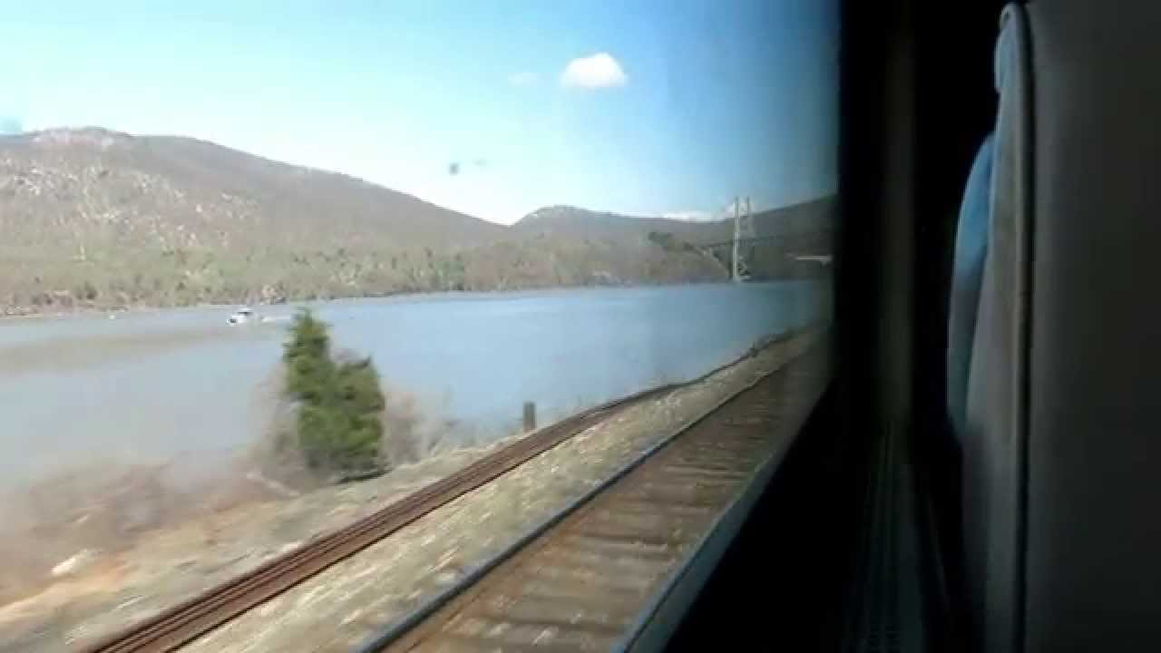 Metro North Train Ride From New York Grand Central To Poughkeepsie