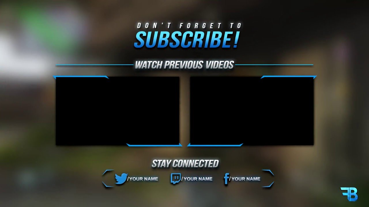 Free GFX: Outro Template /PSD (2017) - YouTube