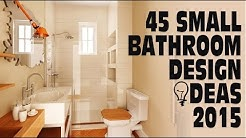 45 Small Bathroom Design Ideas 2015