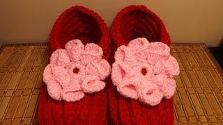 Repeat youtube video Crochet Zapaticos o Pantuflas San Valentine.
